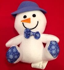 "Build a Bear 4"" White Smiley Snowman McDonald's 2015 #5 Happy Meal Toy EUC!"
