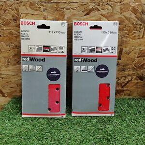 Bosch Sandpaper - 115 x 230 mm - 10 Sheets 60,120 Grit - Hook and Loop 'G141