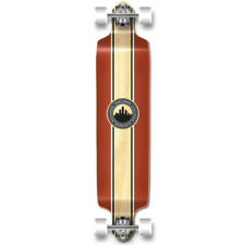 Yocaher Drop Down Crest Burgundy Longboard Complete