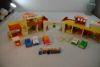 Vintage Fisher Price Little People Village Main Street #997 & Accessories