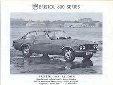 Bristol 603 412 c.1986/87 UK original official sales brochure