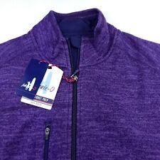 Johnnie-O Mens Full Zip Jacket Vest Stretch Fleece $145 Medium Purple