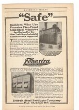 1916 Fenestra Steel Windows Advertising Detroit Steel Products Company Advertisement 1910-19