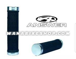 Answer Bmx Lock-On Grips 130mm Black/Silver