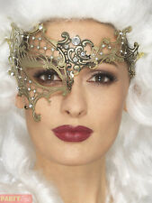 Over Eye Gold Metal Masquerade Mask Genuine Smiffys -