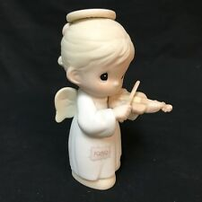 Precious Moments Porcelain Figurine Oh Holy Night 522546 1989 Girl Angel Violin
