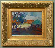 JOSE TRUJILLO MODERN Impressionism Oil Painting FRAMED BRIGHT DESERT LANDSCAPE