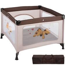 Parc pour bébé lit pliant parapluie avec matelas lit de voyage réglable brun