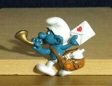 Smurfs Magnet Postman Smurf Classic 1983 Vintage Figure Fridge Toy Peyo Figurine
