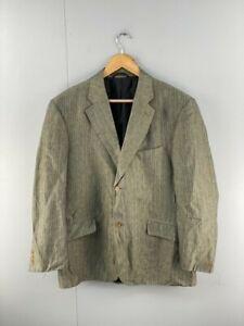 Rodd & Gunn Mens Lined Dress Jacket Button Up Sportscoat Size 107 Green Stripe