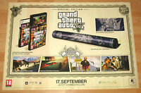 Grand Theft Auto V GTA 5 promo Special Edition Poster 59x84cm xbox 360 PS3