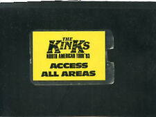 The Kinks  1983 Backstage laminate pass North American Tour all access