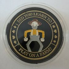DID YOU LEARN TO PLAY ON A FARM? poker coin Card Guard Protector Cover