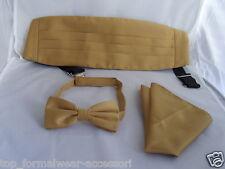 Pajarita Poliéster De Oro + faja y pañuelo conjunto > P&P 2UK > 1st clase - 60 Colores