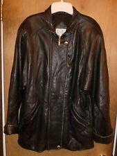 .Valerie Stevens Womens Sz M Black Soft Lamb Skin Leather Jacket Lined Zip Snap