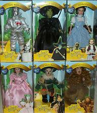 dolls Wizard of Oz Tin Man Dorothy Glinda Scarecrow Cowardly Lion Wicked Witch