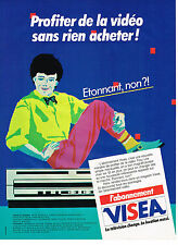 PUBLICITE  1983   VISEA  location magnétoscope téléviseur