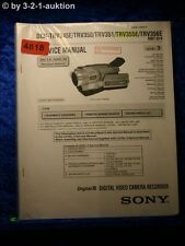 Sony Service Manual DCR TRV345E TRV350 TRV351 TRV355E TRV356E Level 3 (#4818)