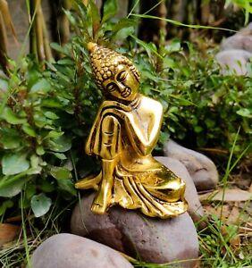 Brass Buddha big statue Figurine Antique Buddhist Buddhism Vintage idols AUS