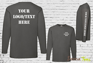 Custom Printed Long Sleeve T-Shirt Personalised Stag Hen do Workwear Conference