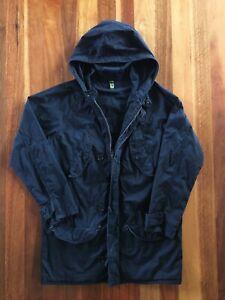 ANALOG Men's Black Canvas Hooded Zip-Up Jacket Large