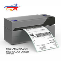 Zing® Thermal Label Printer Black Auto Print 150mm 4x6 - Royal Mail ✓ Free Roll