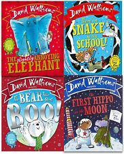 Deluxe Hardback David Walliams 4 Picture Books Collection Gift Set First Hippo