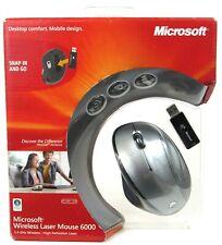 New Sealed Microsoft USB 2.4Ghz Wireless Laser Mouse 6000 Model 1140, 1123