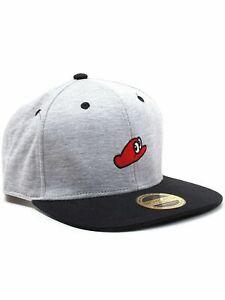 SUPER MARIO ODYSSEY SNAPBACK CAP HAT Grey Cappy Nintendo Officially Licensed