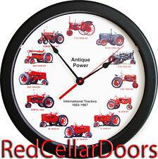 "New International Farmall Clock 12 Tractors Massive 14"" Wheel Dial 1923 - 1967 C"