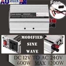 12V To 240V 600W(1200W) Power Inverter Modified Sine Wave Car Converter USB AU