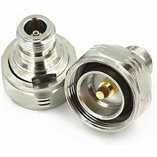 1pc L29 7/16 DIN Male Plug to N Female Jack RF Straight Adapter Connector Q