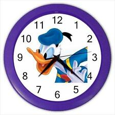 "Brand New Donald Duck Purple Frame 10"" Round Wall Clock"