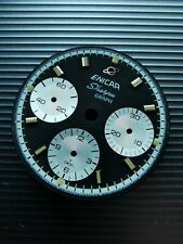Enicar Sherpa Graph Mk4 reverse panda dial and hands set