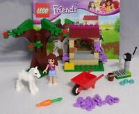 LEGO Friends 41003 Olivias Fohlen Tränke Baum Schubkarre Schmuck kompl. + BA #15