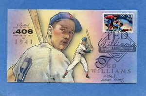 Ted Williams Bevil HD & HP Cachet First Day Cover Artist Proof