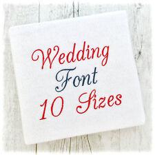 WEDDING SCRIPT ALPHABET MACHINE EMBROIDERY DESIGNS - 10 SIZES - IMPFCD42