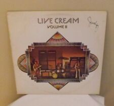 "Cream ""Live Cream Vol.2"" 1972 RSO RS-1-3015 LP record (Eric Clapton, Jack Bruce)"