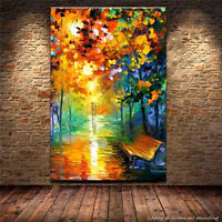 Hand-painted Oil Painting Wall Art on Canvas,Corner, rainy night 24x36 no frame