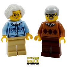 LEGO Elderly couple grandma grandad old man woman - from City Park set 60134 NEW