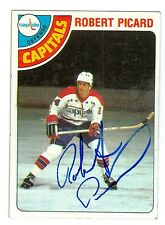 Robert Picard Signed 1978-79 Topps Hockey Card #39 Capitals Dated In Person Auto