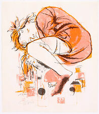 David Stone Martin Pencil Signed Sleeping Child Monotype Nap