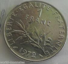 1 franc semeuse 1972 : TTB : pièce de monnaie française