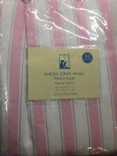 "Pottery Barn Kids Shelby Pink Stripe Lined Drapes 84L"" x 50W"" New"