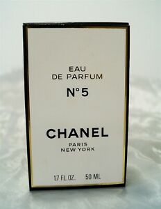 NIB CHANEL No. 5 Eau de Parfum EDP 1998-2003 1.7 fl oz/50ml
