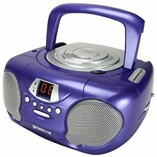 Groov-e GVPS713PE Boombox Portable CD Player, Purple