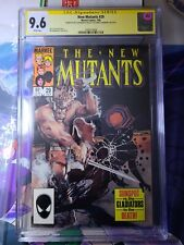 New Mutants #29 CGC 9.6 SS WP Signed by Chris Claremont & Bill Sienkiewicz MCU