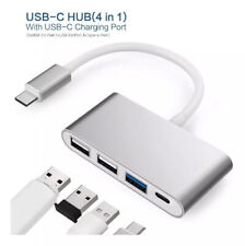 Wordima 4-in-1 USB-C Hub USB 3.0 and USB C Charging Port for Macbook Chromebook