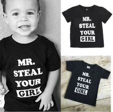 Mr. Steal Your Girl : 1x Black Tee Shirt - Size: 3-4 Yrs - Kids Boy Son Gift