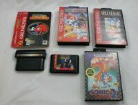 Sonic The Hedgehog 1 2 Spinball Knuckles 3D Blast Sega Genesis Game Lot of 5